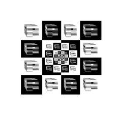 Architekturphantasie Schachbrett