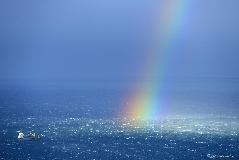 arcobaleno sul Golfo di Trieste