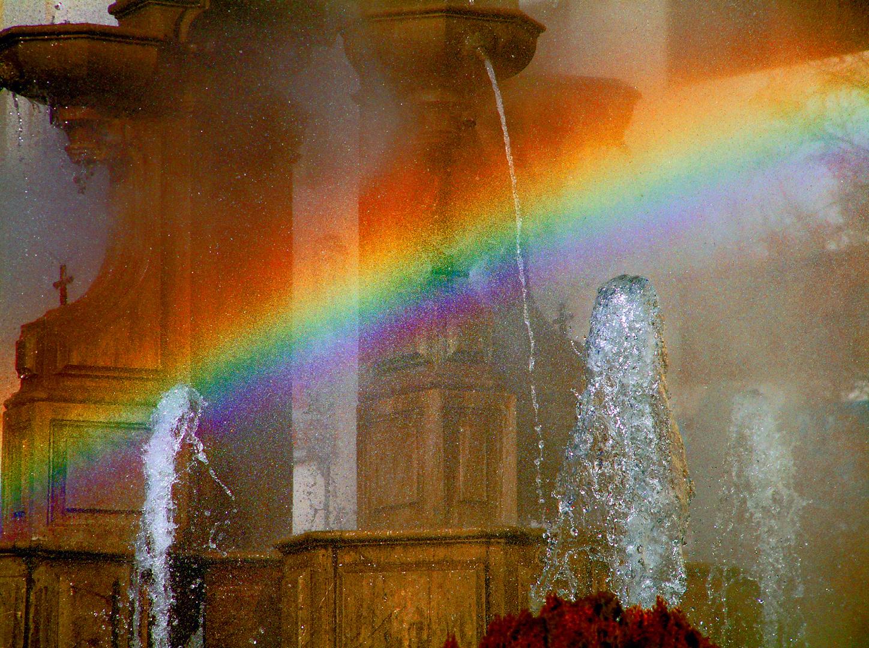 Arcoiris en la Fuente de Las Batallas(Granada)