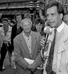 ARD-Reporter im Frühjahr 1990 in Rostock