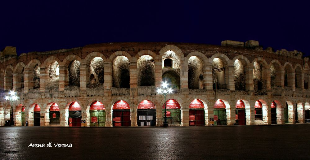 Arena di Verona - Nachtaufnahme
