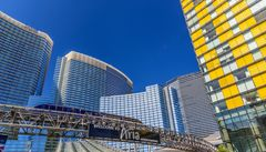Aria Resort, Monorail, Las Vegas, USA