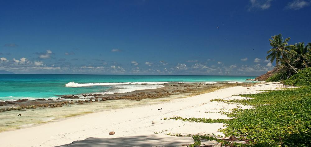 Aride island beach