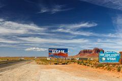 Arizona/Utah State line