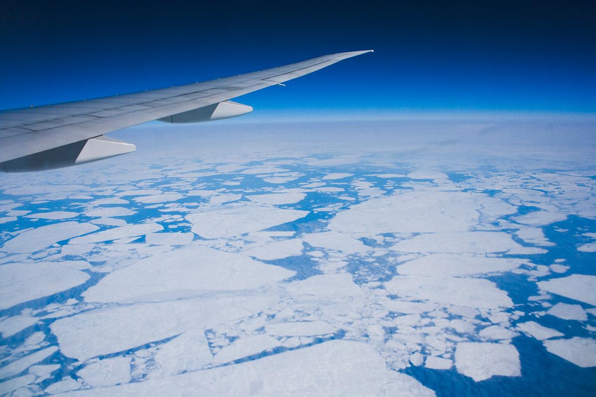 Arktis Überflug
