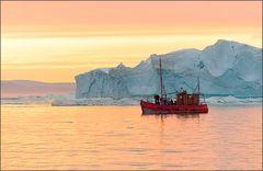 arktisches mitternachtssonnenlicht