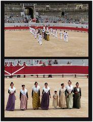 Arles - Amphitheater - Einzug der Gladiatoren mit frauen und Kind