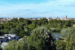 Arles - Blick aus dem Hotel Mercure auf die Stadt