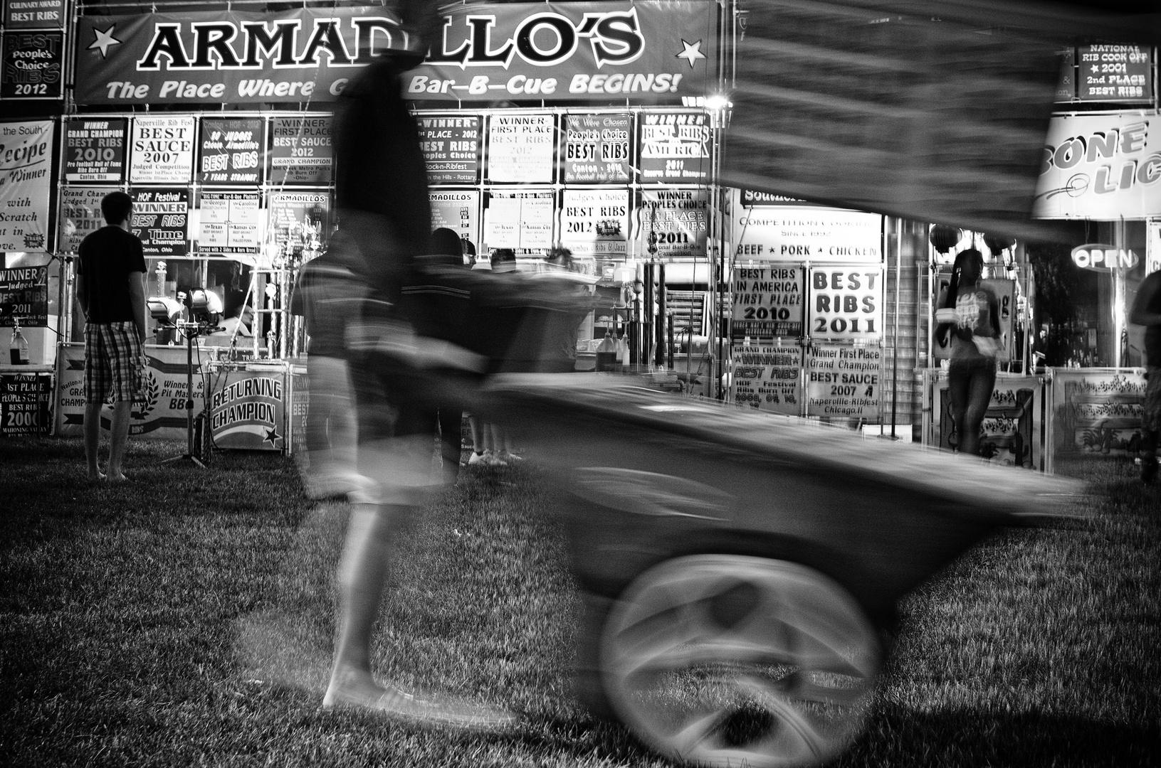 Armadillo's Bar -B-Cue  Begins 1