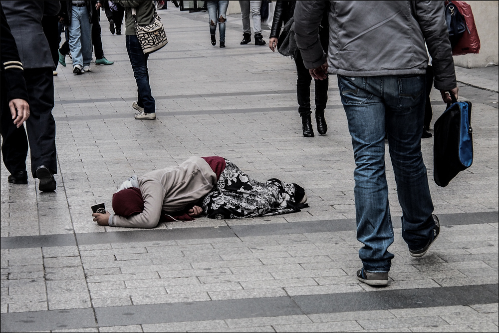 Armut oder Bettelei