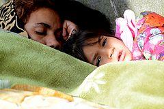 Armut schläft auf der Strasse