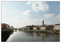 Arno mit Ponte Vecchio