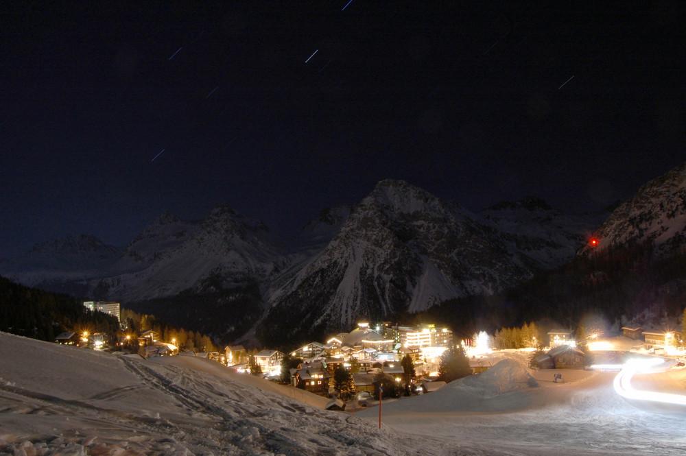 Arosa bei Nacht