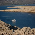 Arrival to the island of Pag