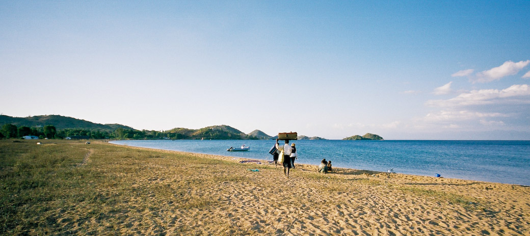 Arriving on Likoma Island Lake Malawi