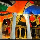 Art in modern cave.