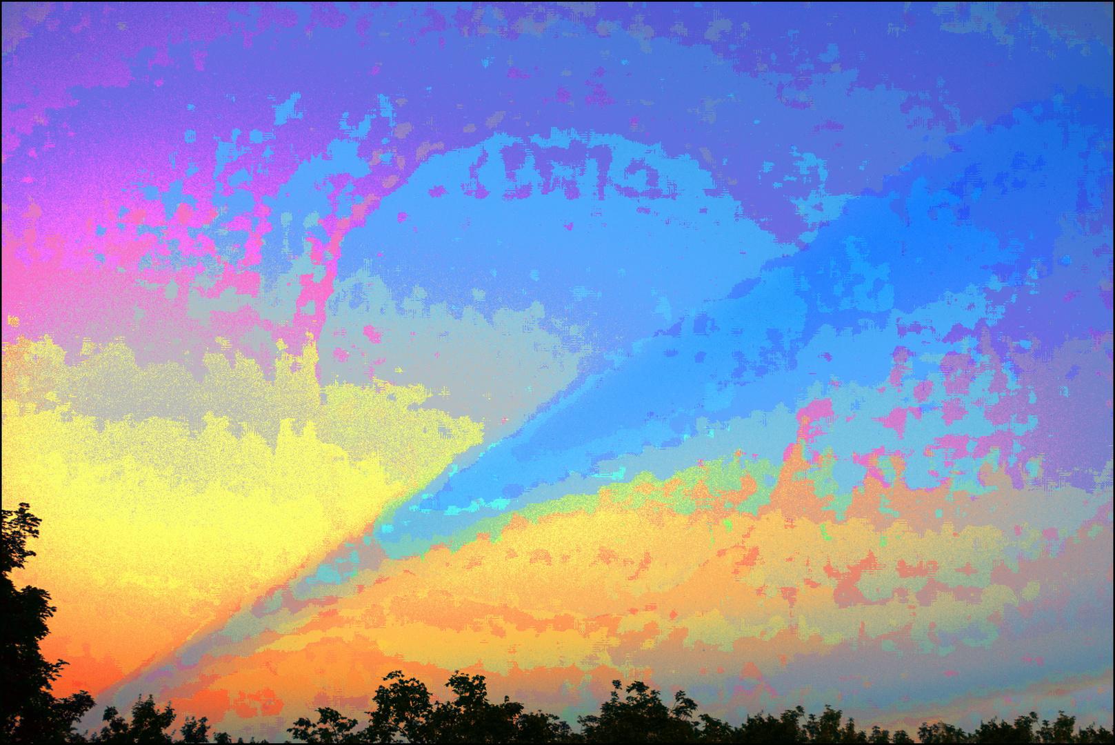 art-istischer Diagonalhorizont