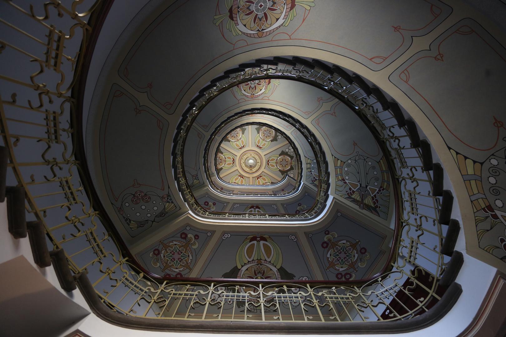 Art Nouveau staircase in Riga