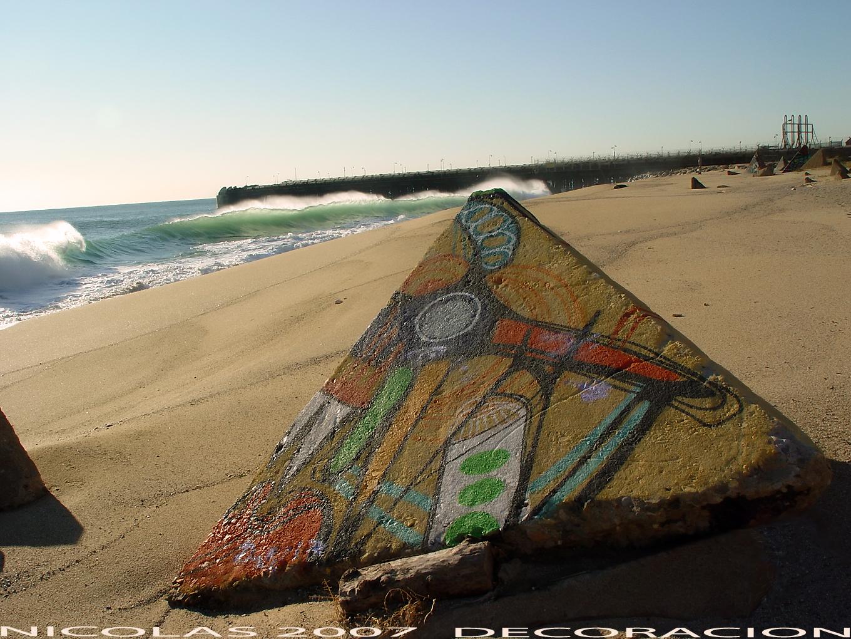 Artes decorativas en la playa - Badalona