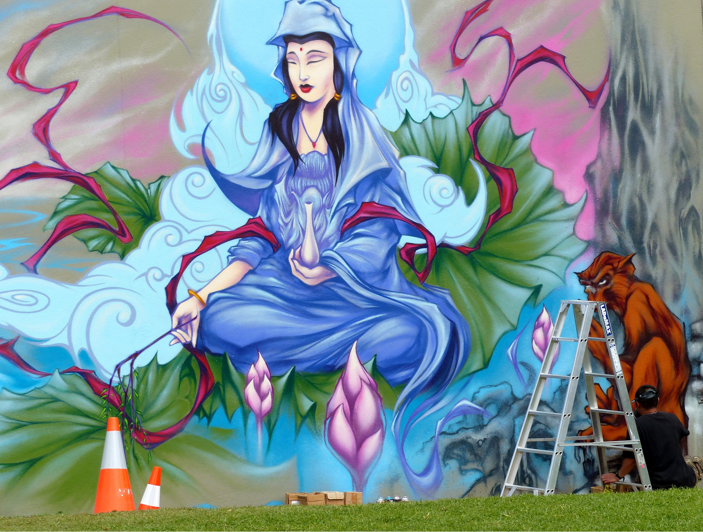 artist at work. adelaide. south  australia