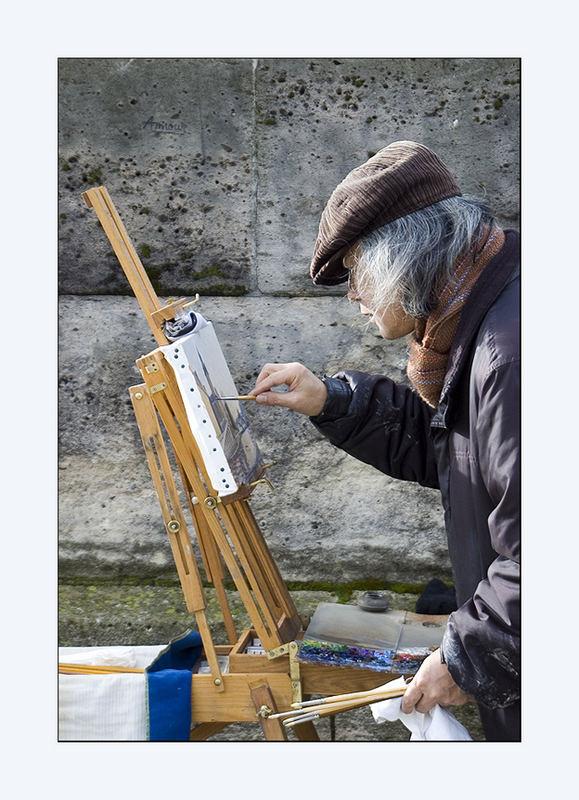 Artist by the Seine.