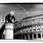 Artista di strada ai Fori Imperiali di Roma