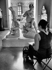 Artiste au Louvre