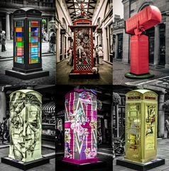Arty Telephone booths in Covent Garden