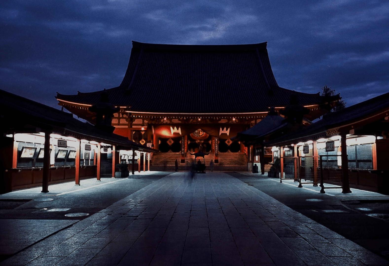 ASAKUSA TEMPLE IN TOKYO TAKEN IN 1996 (FUJI VELVIA 50)