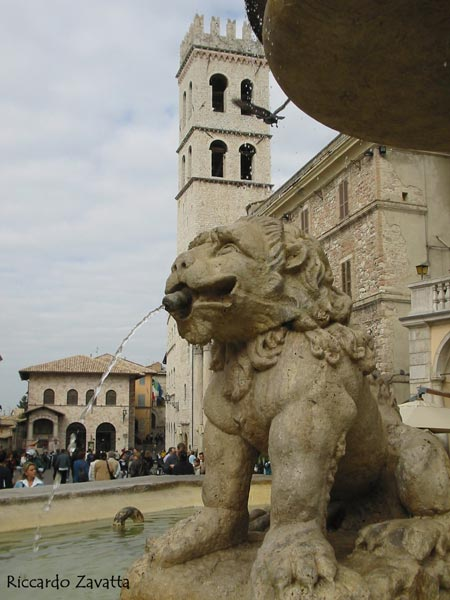Assisi - Fontana in Piazza del Comune