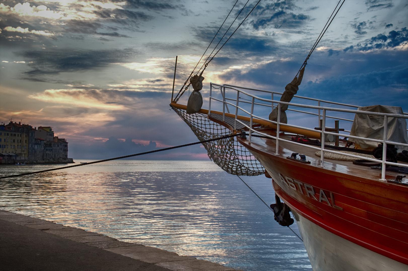 Astral im Hafen von Rovinj