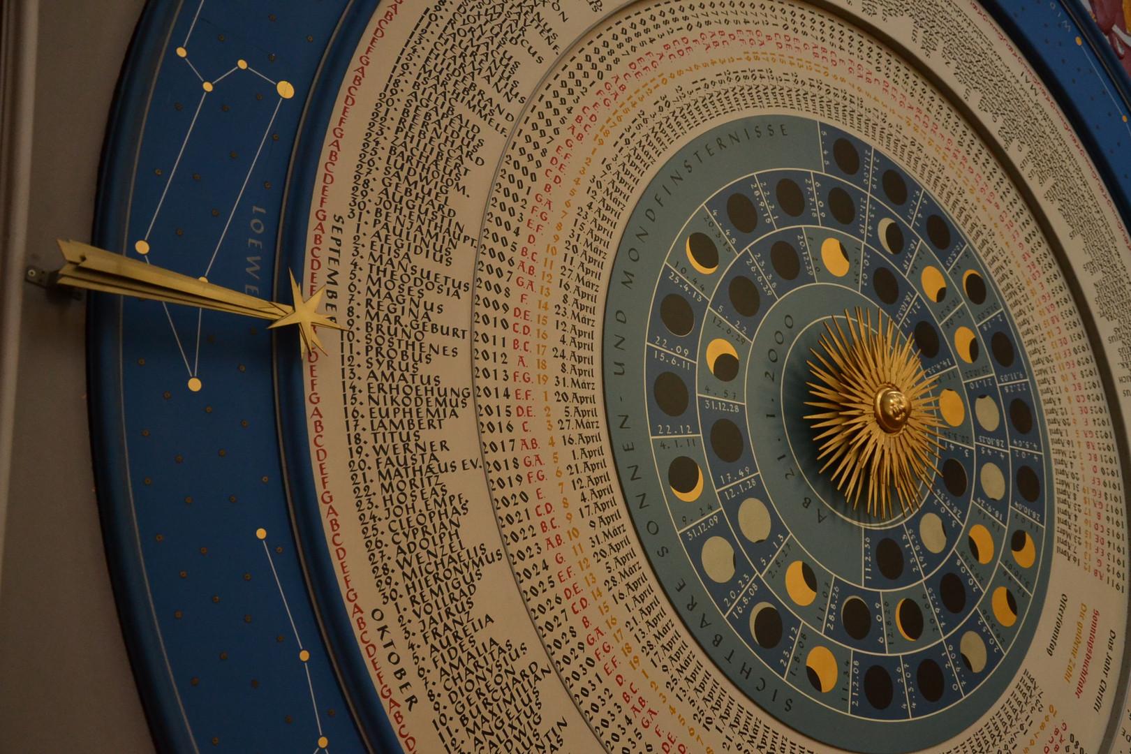 Astronomische Uhr in St. Marien in Lübeck
