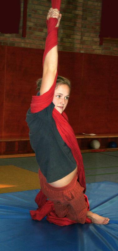 at a circus rehearsal