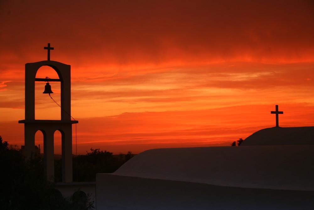 at sundown Kapelle bei Pyli-Kos Island Greece