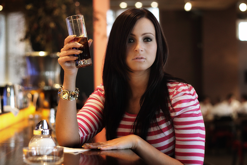 At the bar