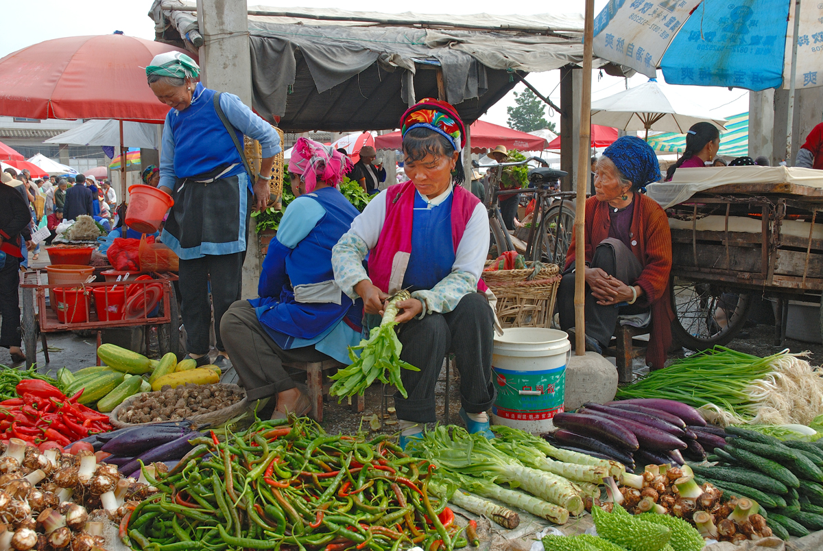 At the market in Xizhou