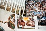 At the WTC No.2 - Readying the Michelangelo Sistine Chapel Exhibit  in the Oculus