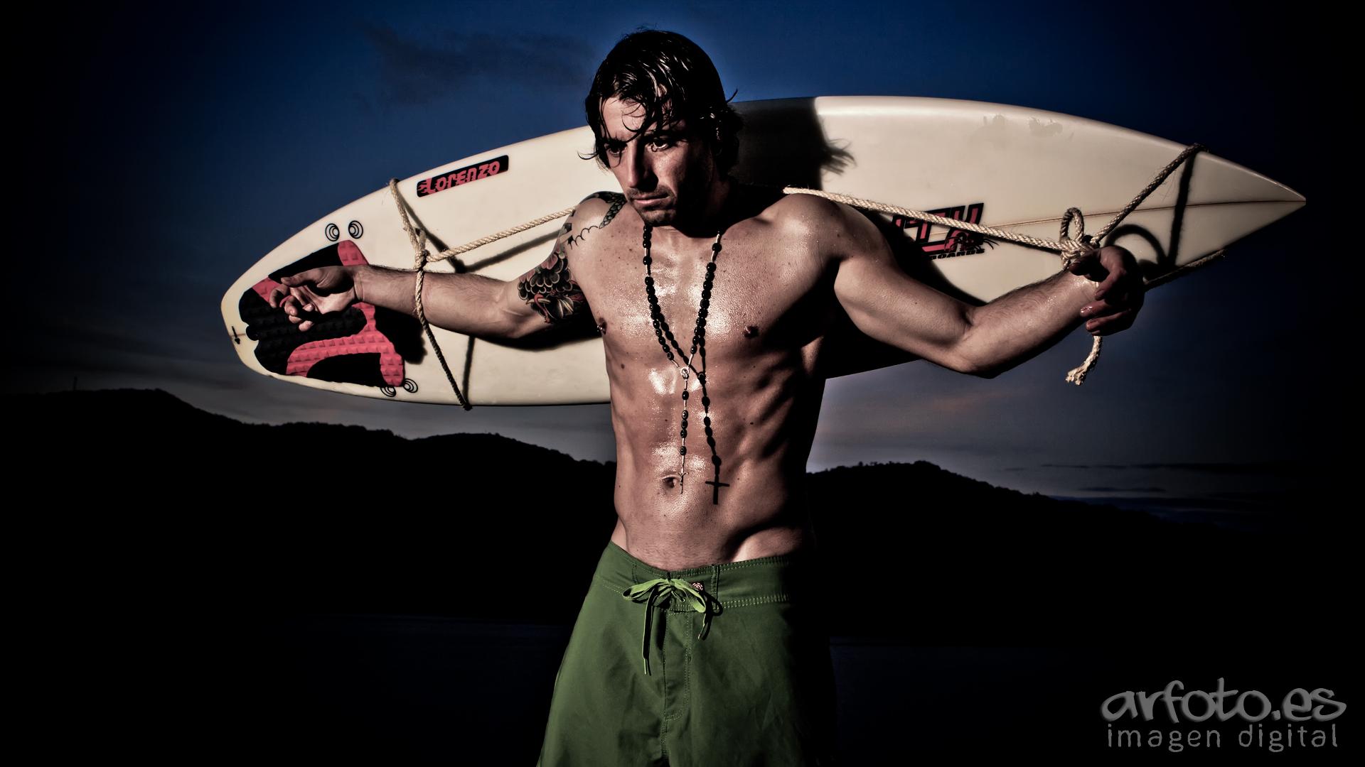 Atado al surf...