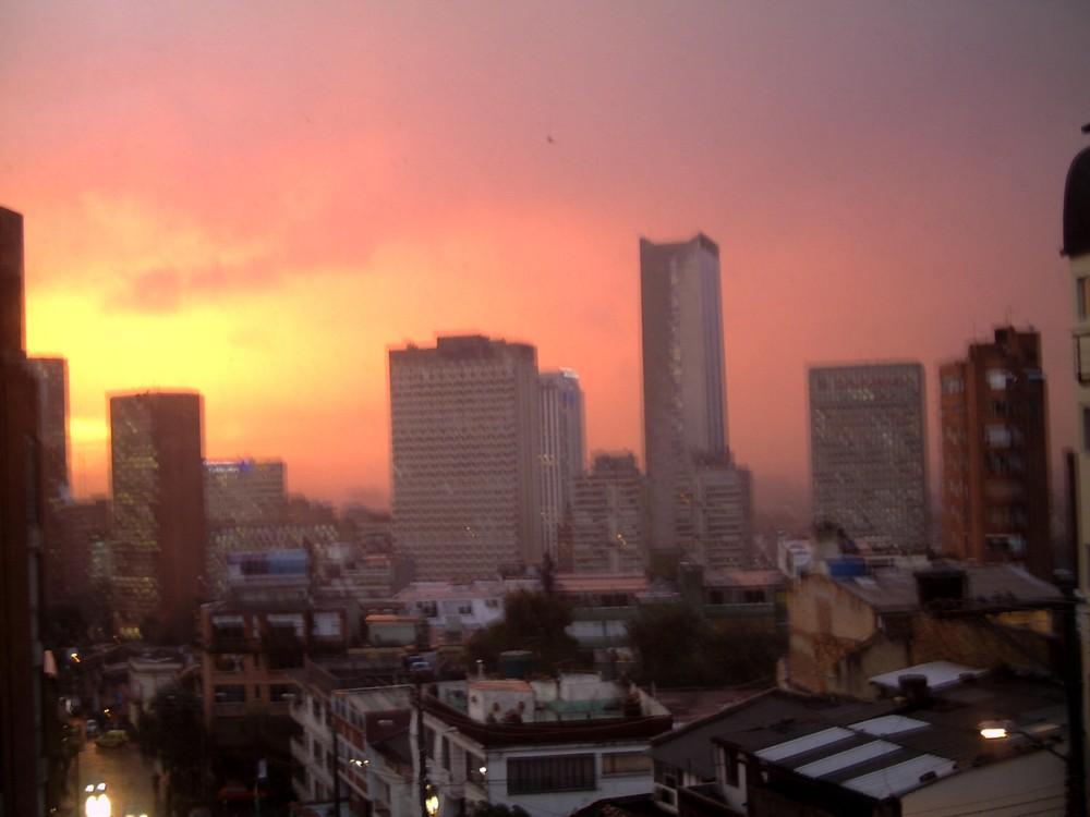 Atardecer en el centro de Bogota