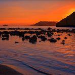 Atardecer en la playa de Cocedores -Almería I
