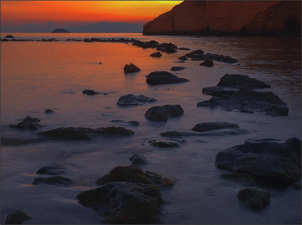 Atardecer en la playa de Cocedores -Almería II