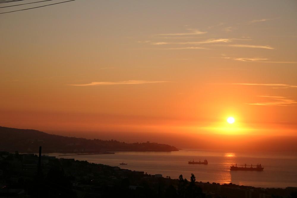 Atardecer en Valparaíso (Chile)