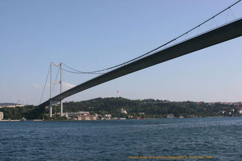 Ataturk Bridge on Bosphore