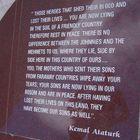 Ataturk Memorial Inscription