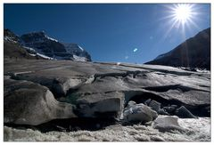 Athabasca Gletscher - melting in the sun