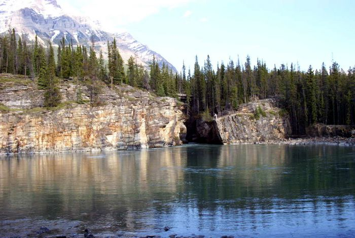 Athabasca River unterhalb des Falls