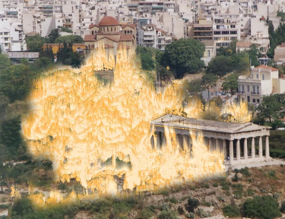 Athenes en feu