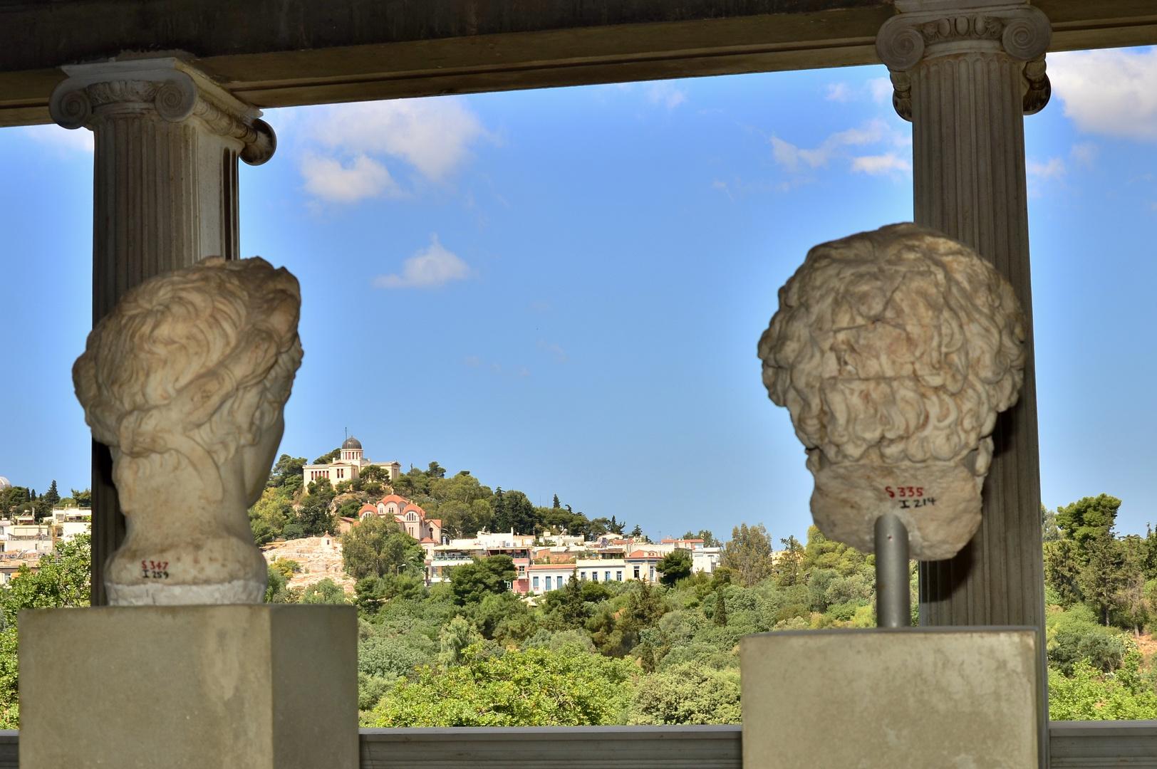 Athens Acient agora. the window