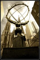 Atlas statue & St. Patrick's Cathedral