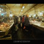 atmosphere of a traditional fish market
